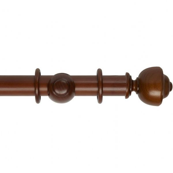 Museum Asher 45mm Wooden Curtain Pole - Antique Pine